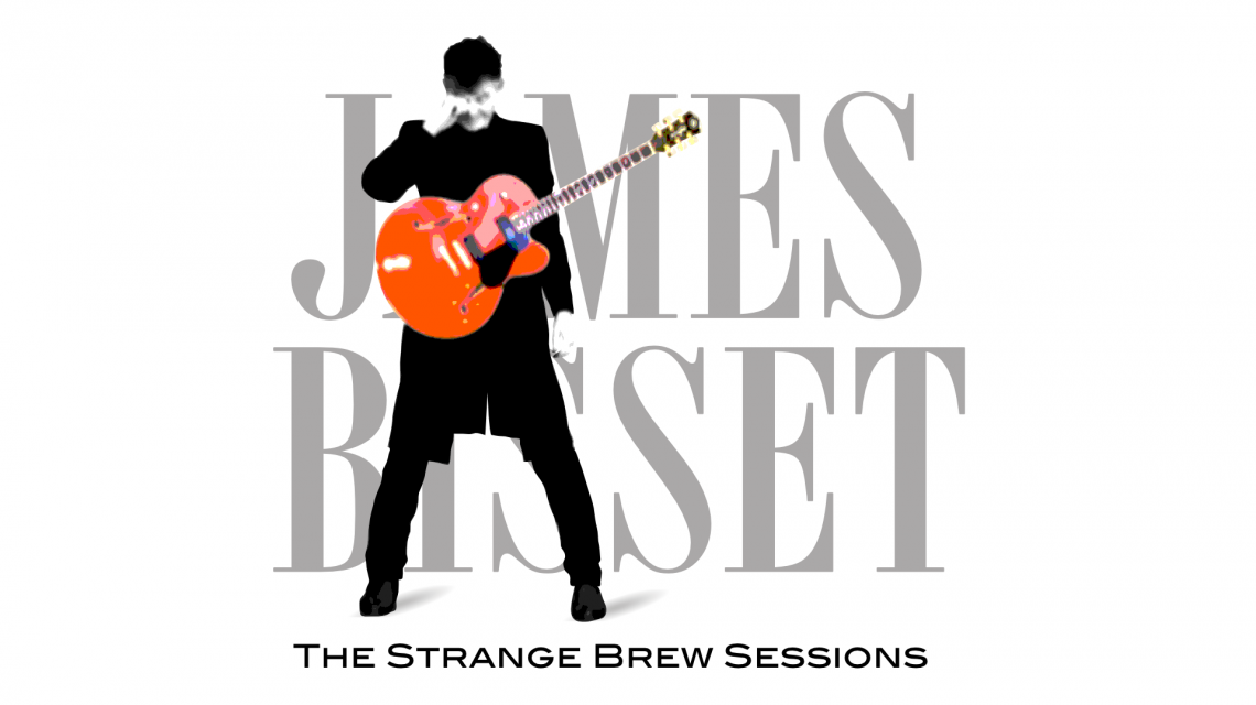 Strange Brew Sessions EP cover art featuring James with a big orange guitar and rubbing his eye